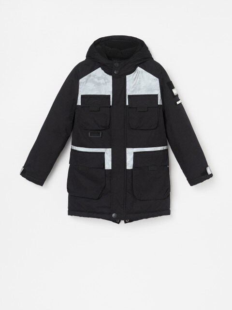 Jacke mit Halteriemen