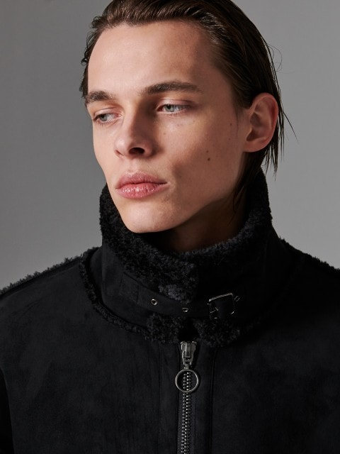 Jacke aus Lammfellimitat