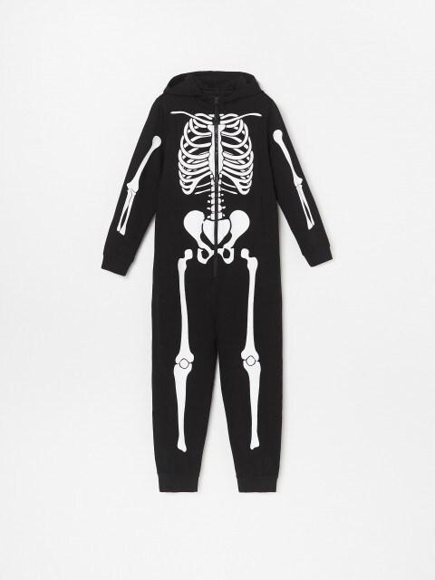 Einteiler mit Skelettmotiv