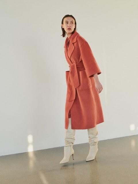 Mantel mit Wolle