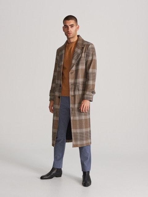 Longline check coat