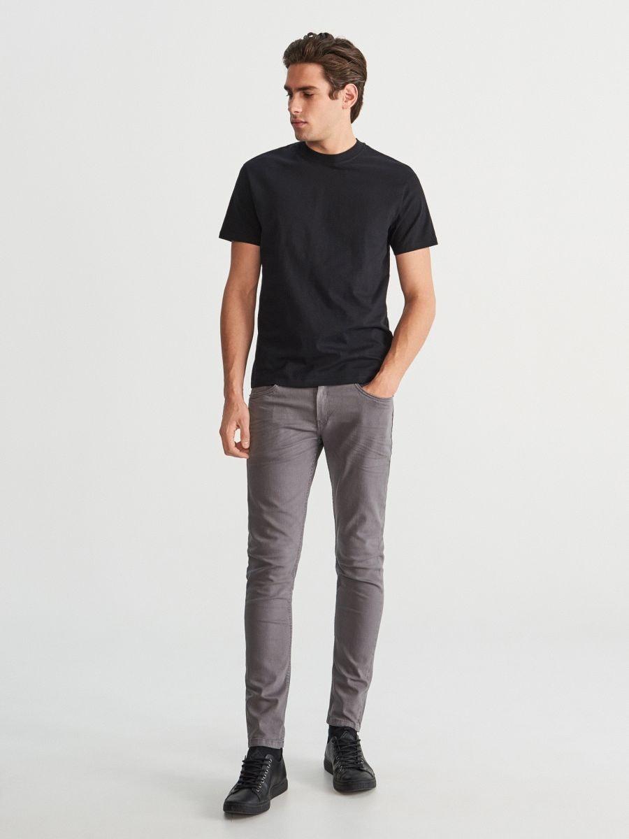 Bavlněné kalhoty slim fit
