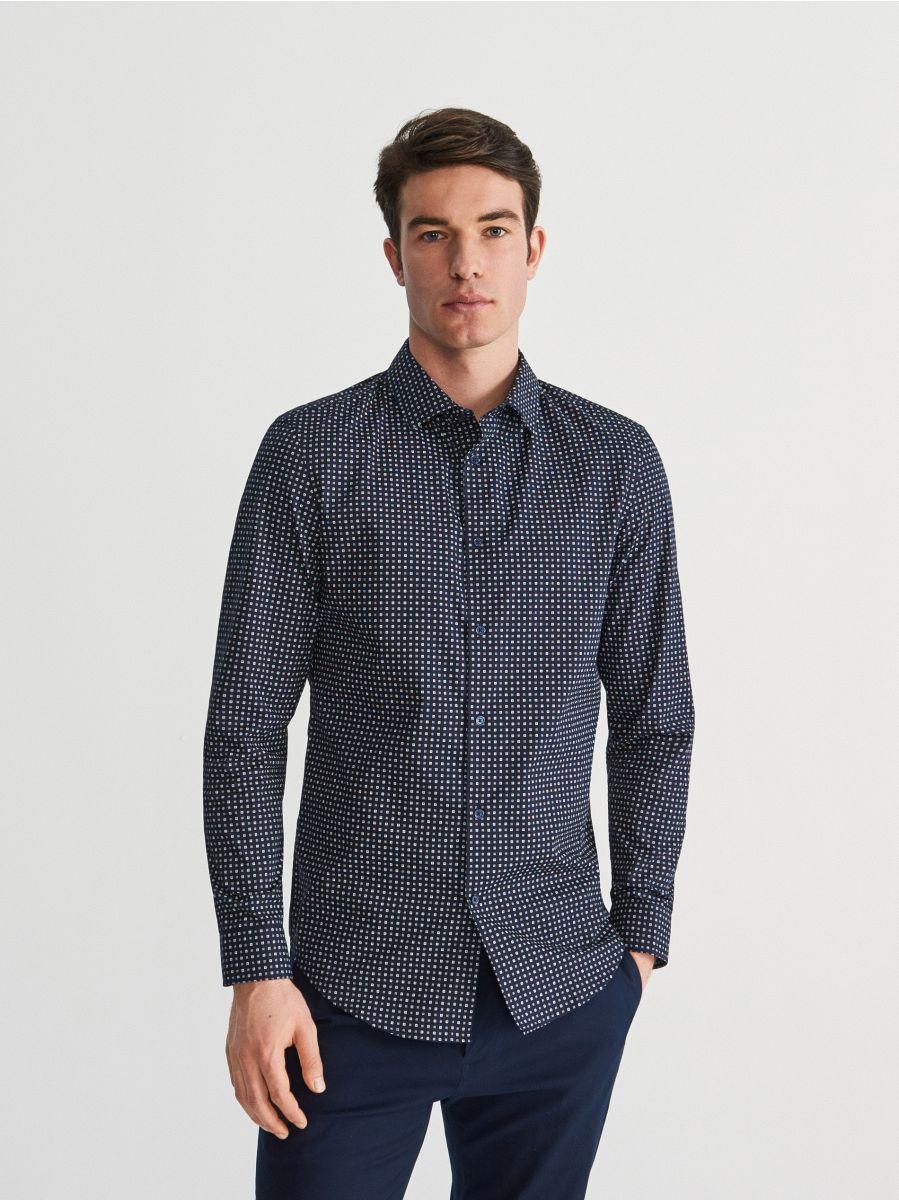 Košile slim fit sdrobným potiskem