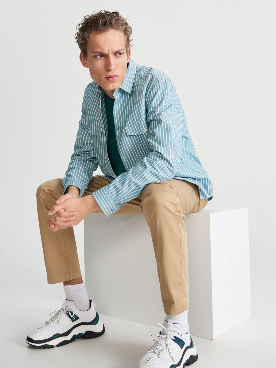 Pruhovaná košile comfort fit