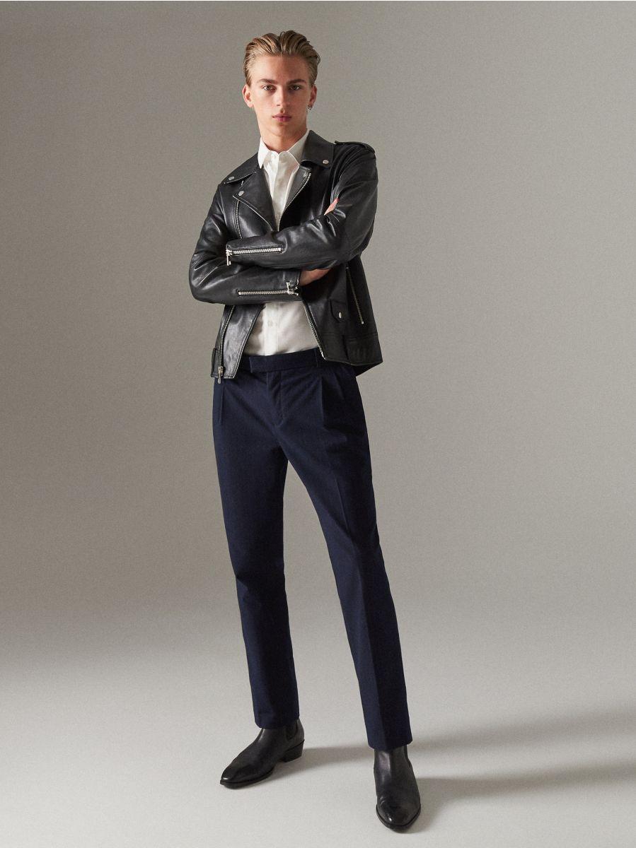 Elegantní proužkované kalhoty