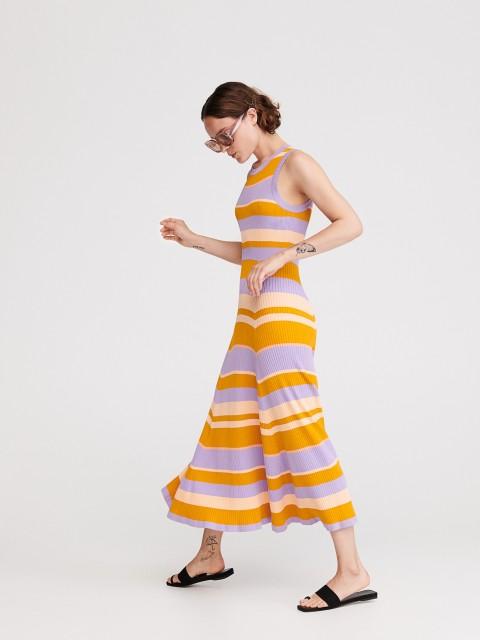 Pruhované pleteninové šaty