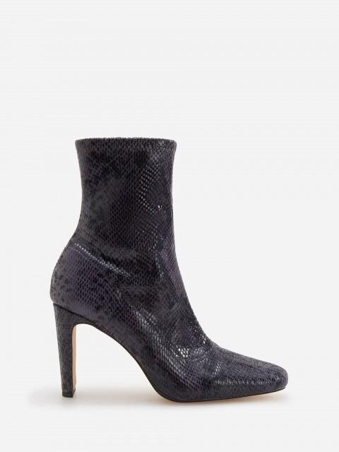 Kotníkové boty sefektem hadí kůže