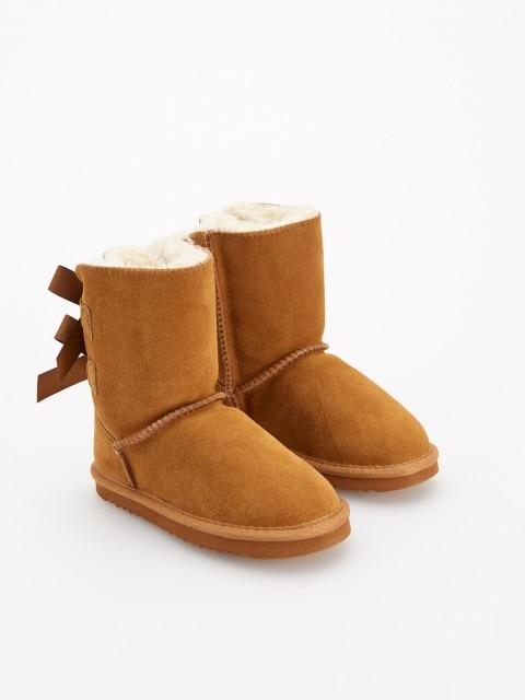 Zateplené kožené boty