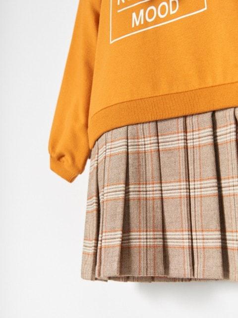 Mini šaty zkombinace materiálů