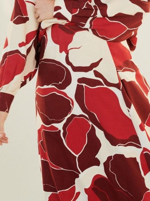 Vzorovaná midi sukně