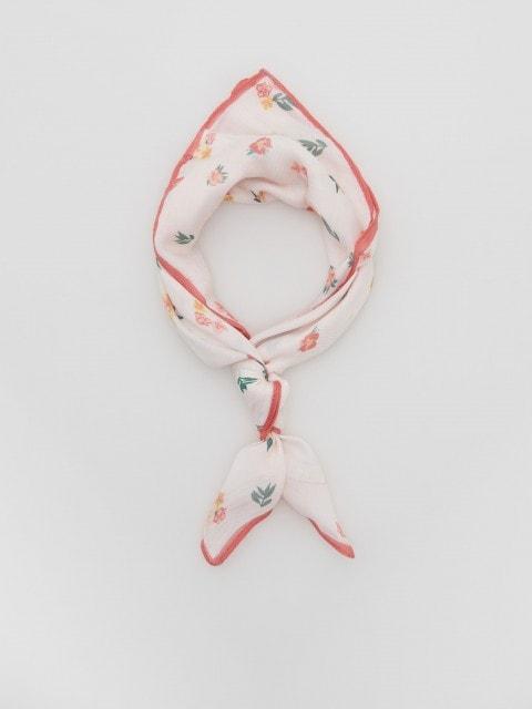 Šátek na krk skvětinovým potiskem