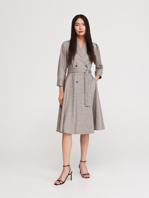 Dvouřadé kostkované šaty
