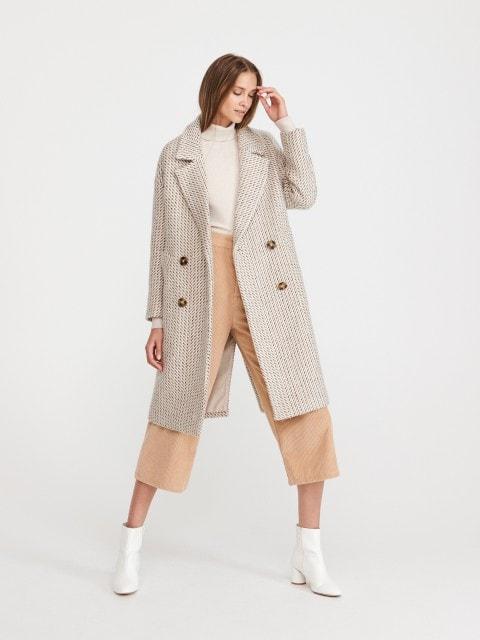 Kabát ze směsi vlny
