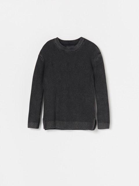 Bavlněný svetr se sepraným efektem
