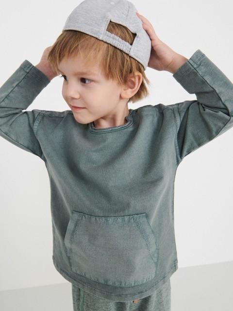 Tričko sdlouhými rukávy aklokaní kapsou