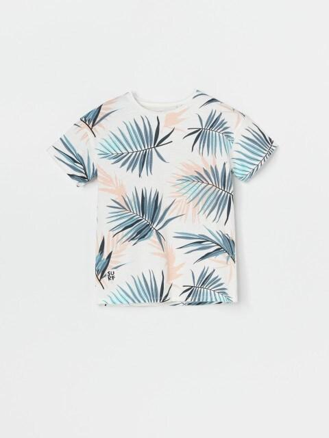 Vzorované bavlněné tričko