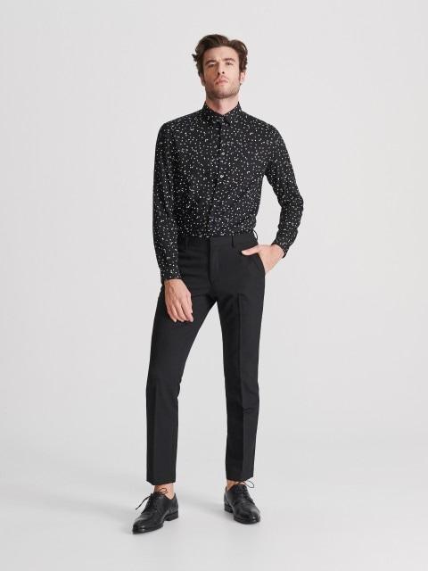 Gemustertes Hemd Regular Fit