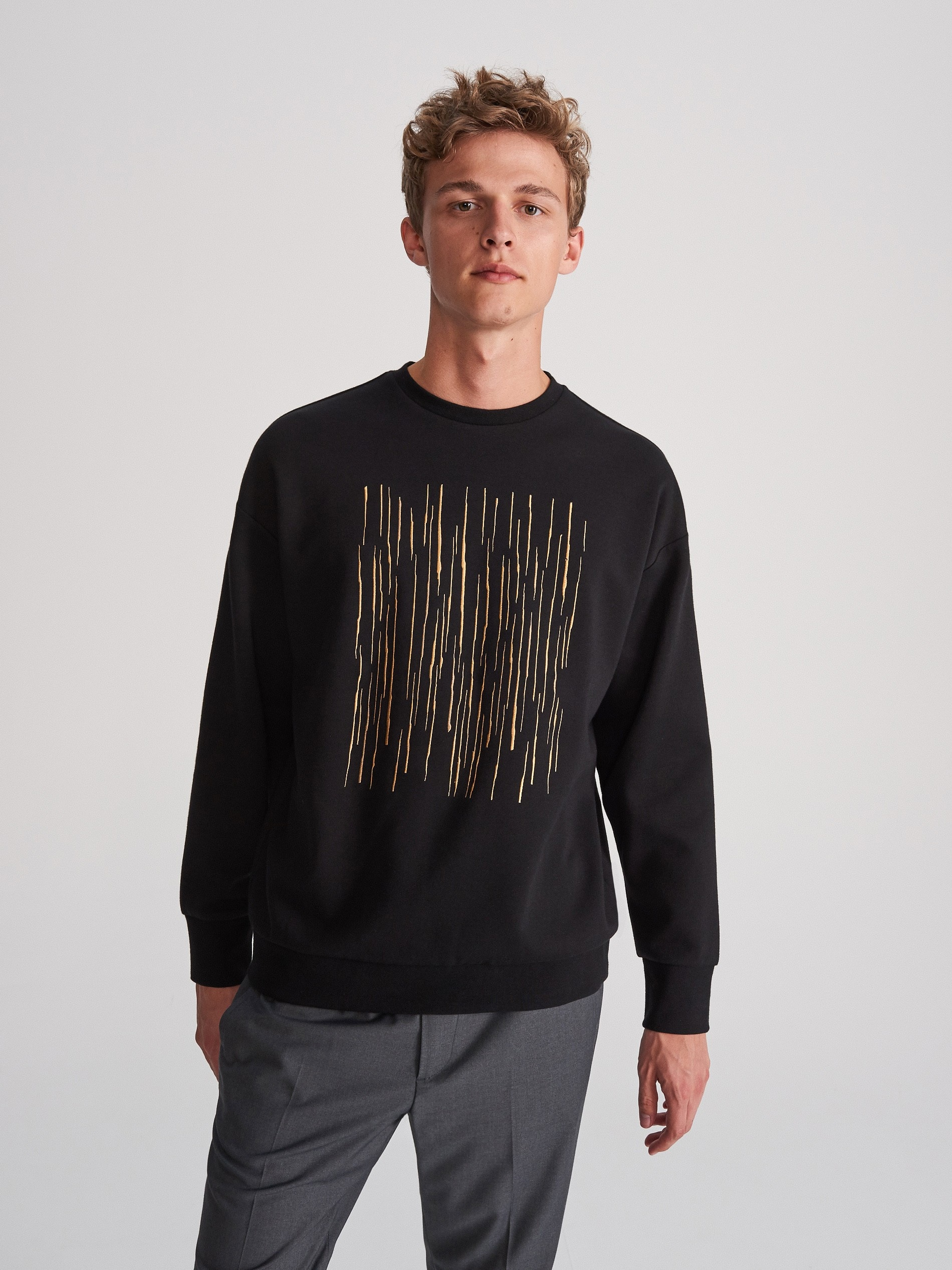 Sweatshirt mit dekorativer Stickerei