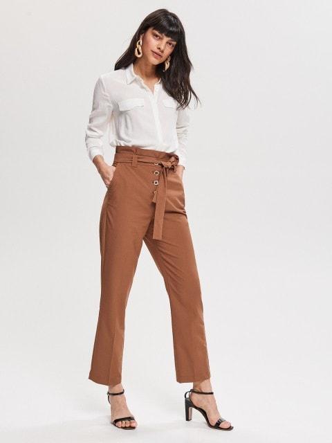 Hose mit Schlichten Hosenbeinen
