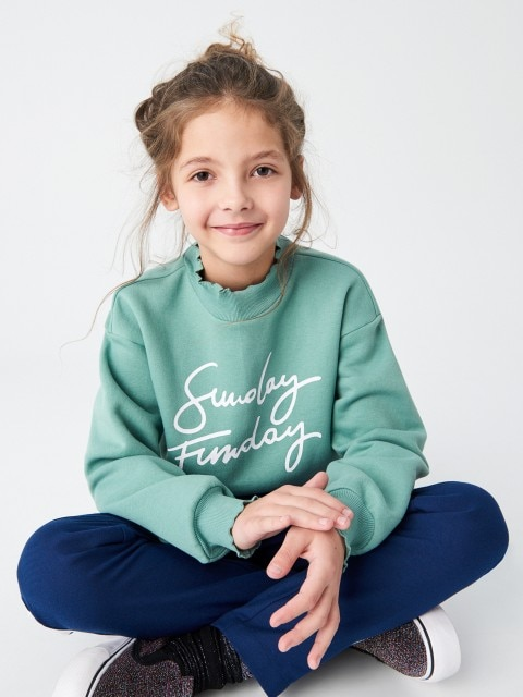 Sweatshirt mit Dekorativen Strickbündchen