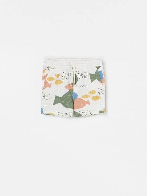 Gemusterte Jersey-Shorts