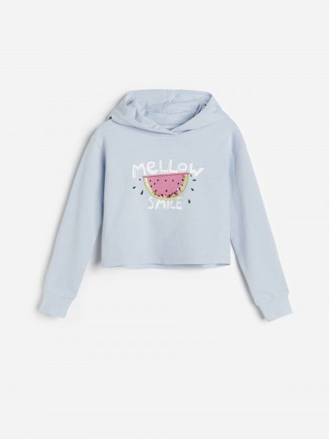 Hoodie with appliqué