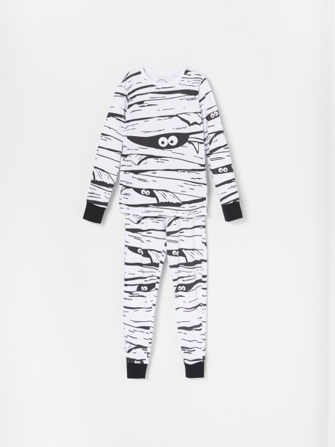 Cotton rich pyjama set with trousers