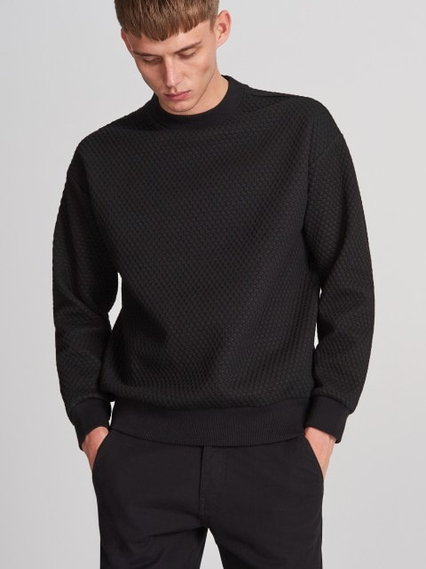 Sweatshirt in structured fabric