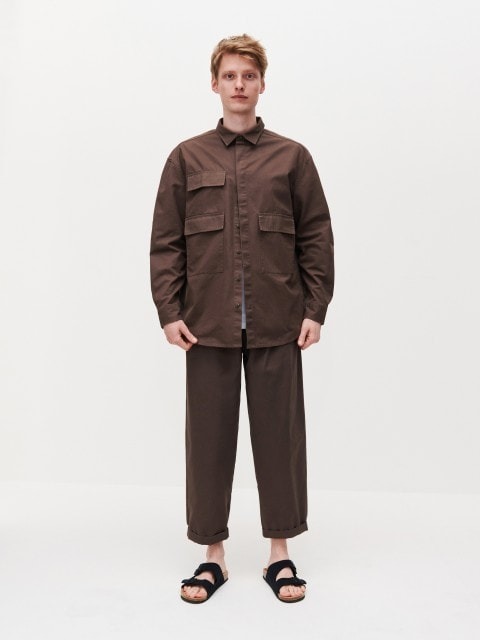 Carrot cotton trousers