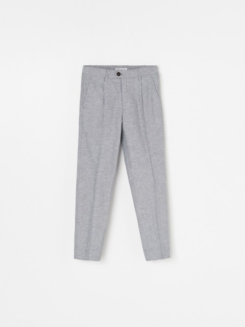 Suit trousers in linen blend