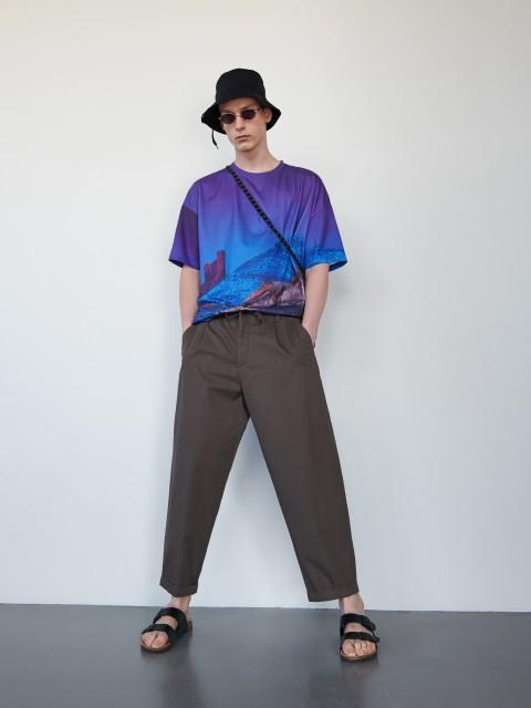 Puuvillased carrot-stiilis püksid