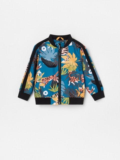 Küljetriipudega mustriline bomber-jakk