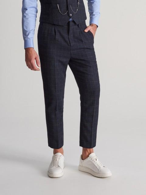 Pantalón de traje en mezcla de lana