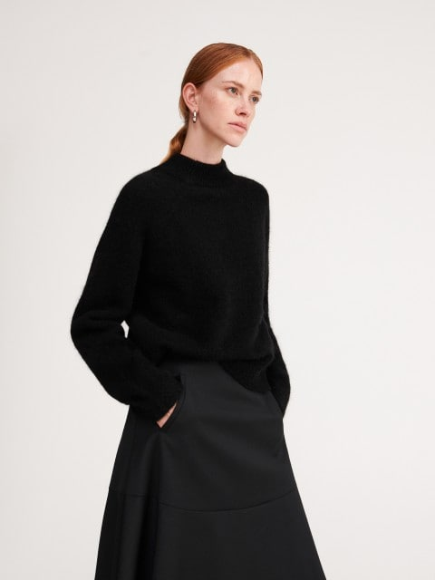Jersey en mezcla de lana y mohair