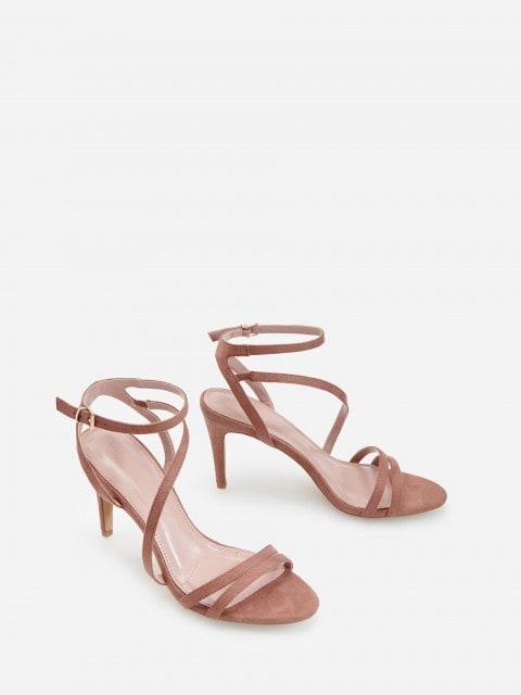 Sandalias con tacón ancho alto