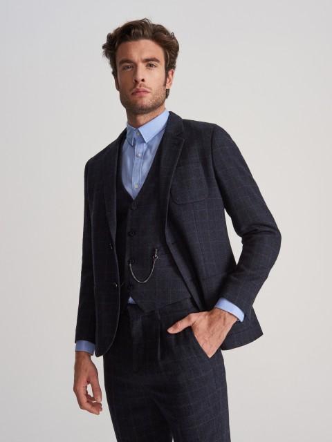Blazer de traje en mezcla de lana