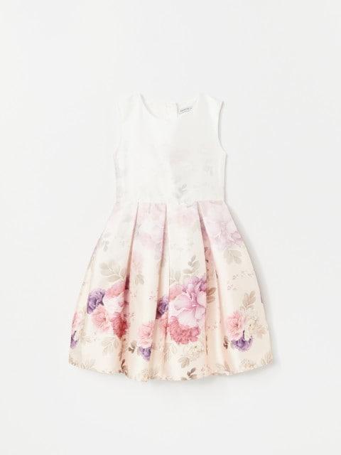 Vestido de flores de satén