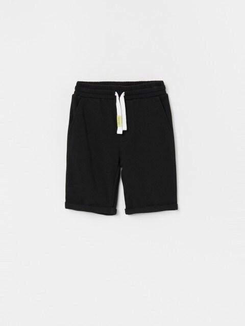 Pantalón de chándal corto en mezcla de algodón