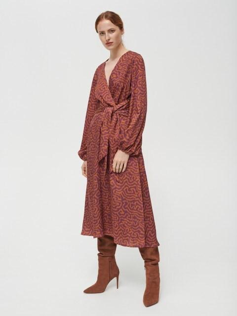 Vestido de satén con nudo en la cintura