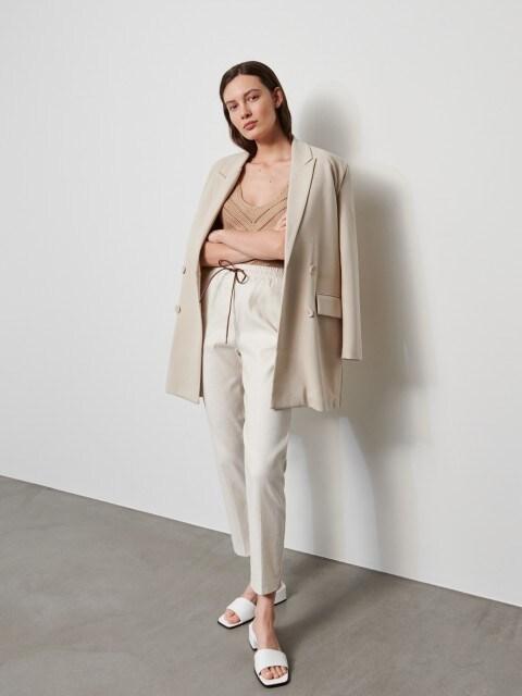 Pantalón en mezcla de lino y algodón