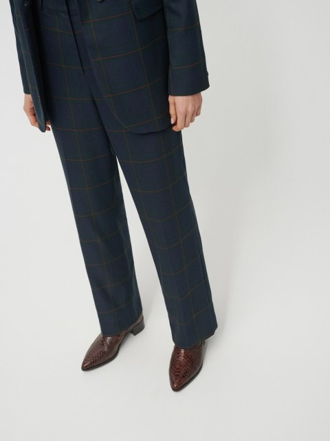 Elegant checked trousers