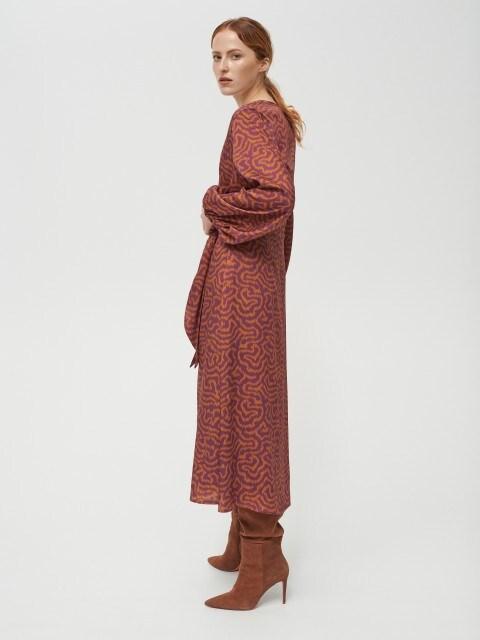 Robe en satin à taille nouée