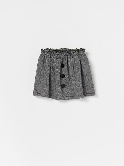 Mini-jupe à imprimé pied-de-poule