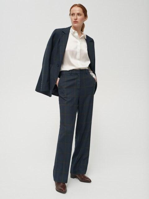 Pantalon élégant à carreaux