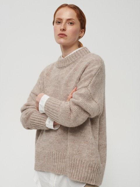 Pull en laine d'alpaga mélangée