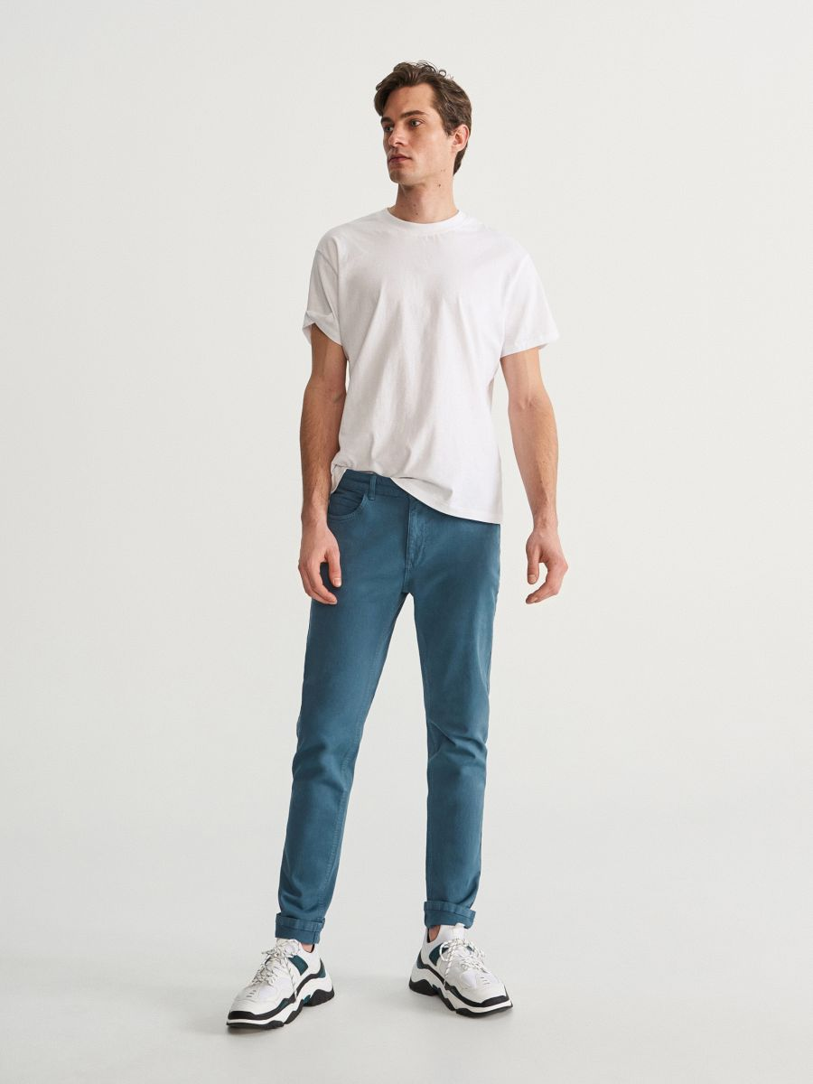 Regular cotton trousers