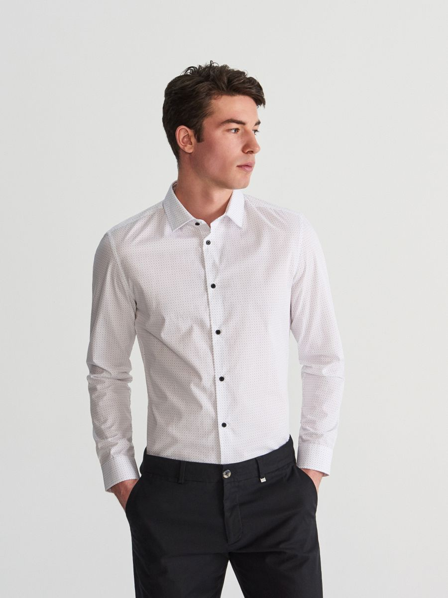 Slim fit shirt with fine print