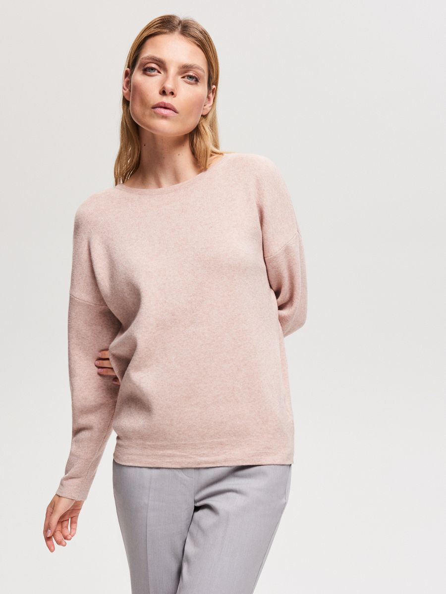 Cardigan with back zip