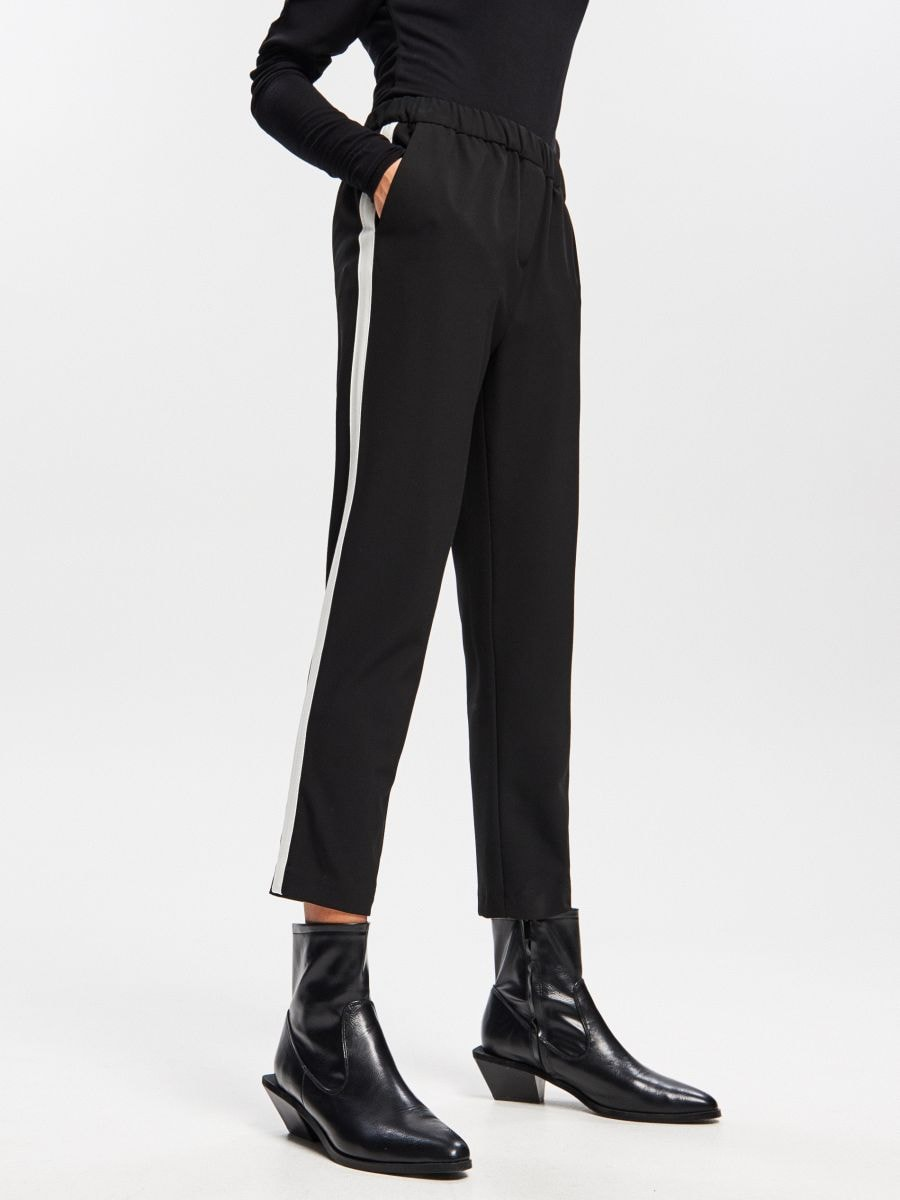 Striped detail trousers