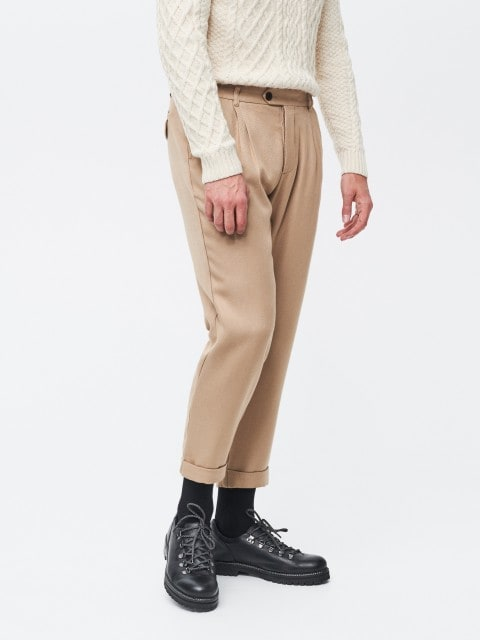 Loose fit carrot trousers